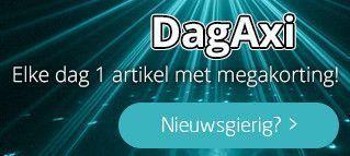DagAxi! Elke dag 1 artikel met megakorting!