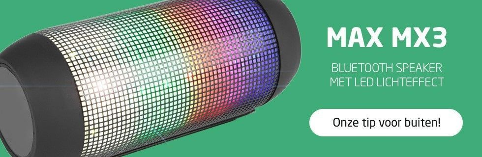MAX MX3 Bluetooth speaker 'LED Party Tube' met LED lichteffect