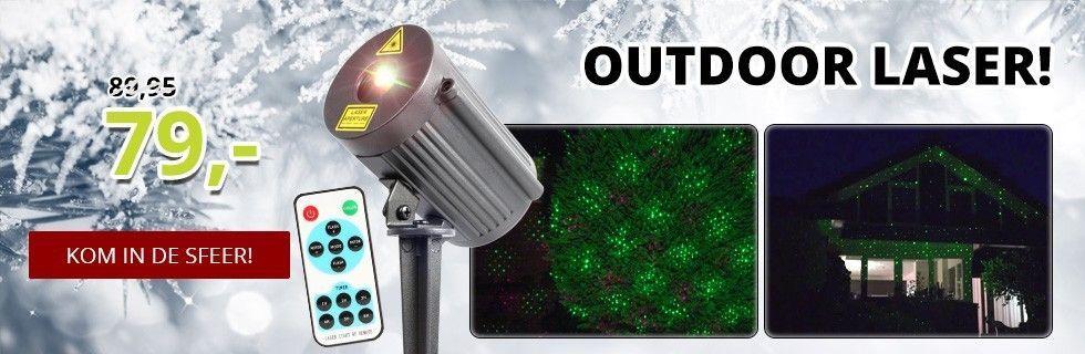 BeamZ Laser Rood/Groen voor buiten met afstandsbediening
