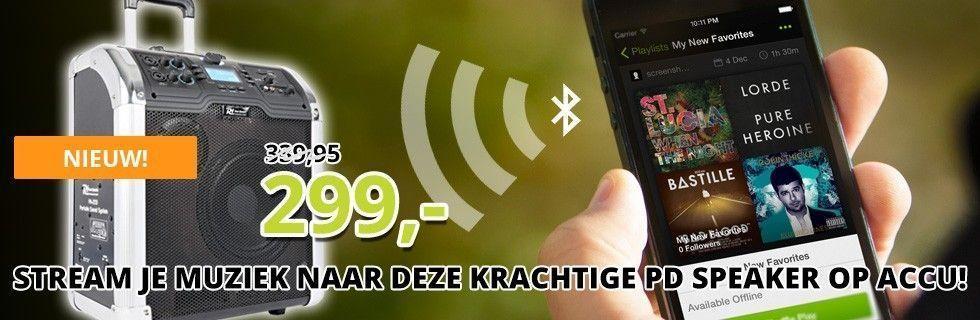 Power Dynamics PA203 mobiele geluidsinstallatie met Bluetooth