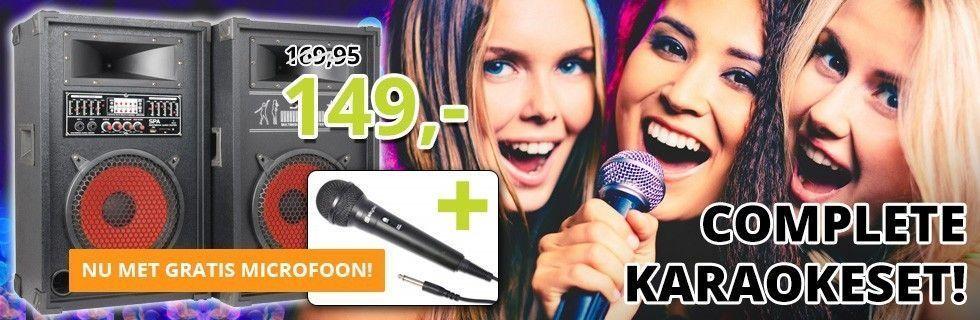 Complete 800W Karaokeset - Nu met gratis microfoon!