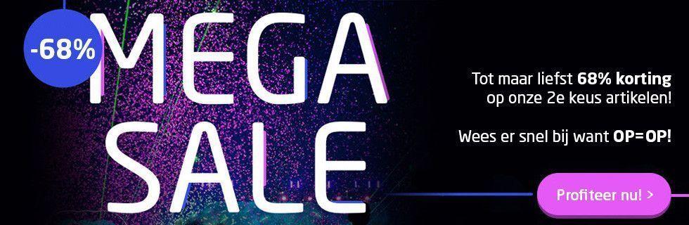 2e keus Mega Sale! Tot maar liefst 68% korting!