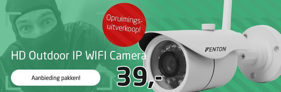 Opruimingsuitverkoop! HD Outdoor IP WIFI Camera