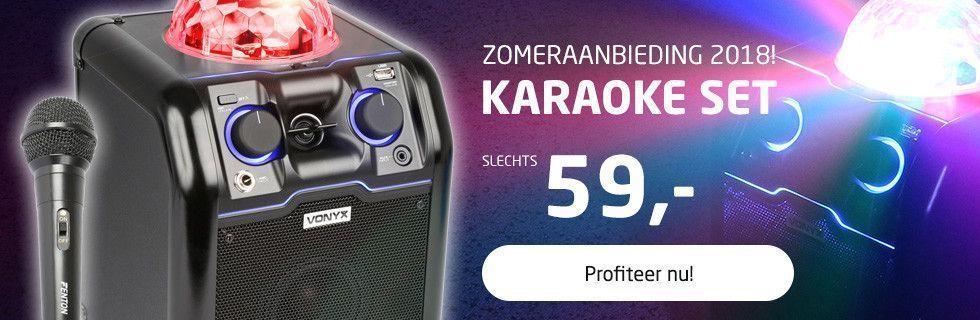 Karaoke set voor maar 59,-