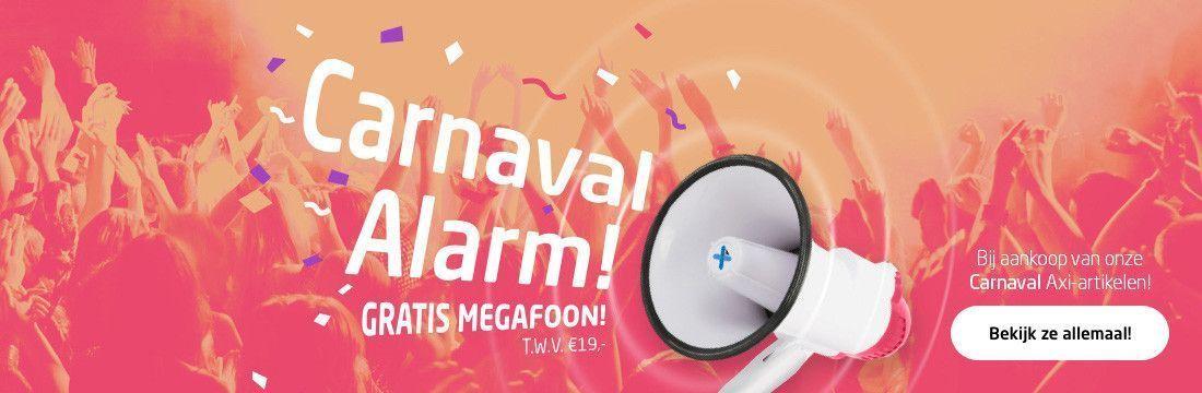 Gratis megafoon bij aankoop van onze Carnaval Axi-artikelen!