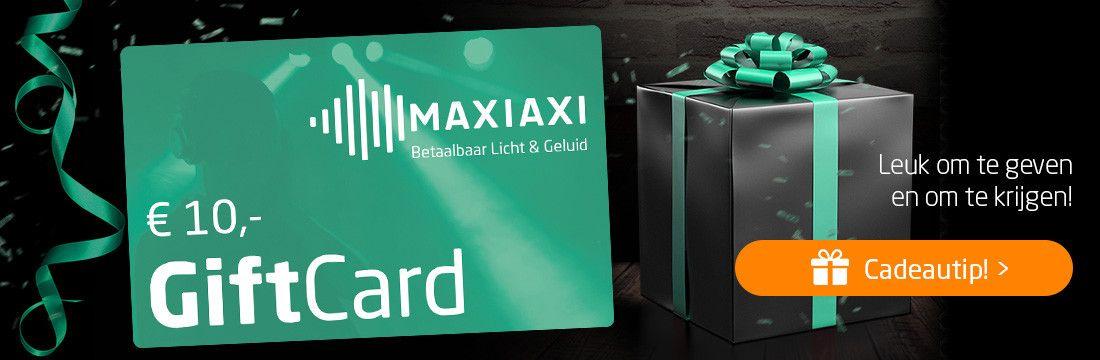 Cadeautip! MaxiAxi GiftCard. Leuk om te geven en om te krijgen