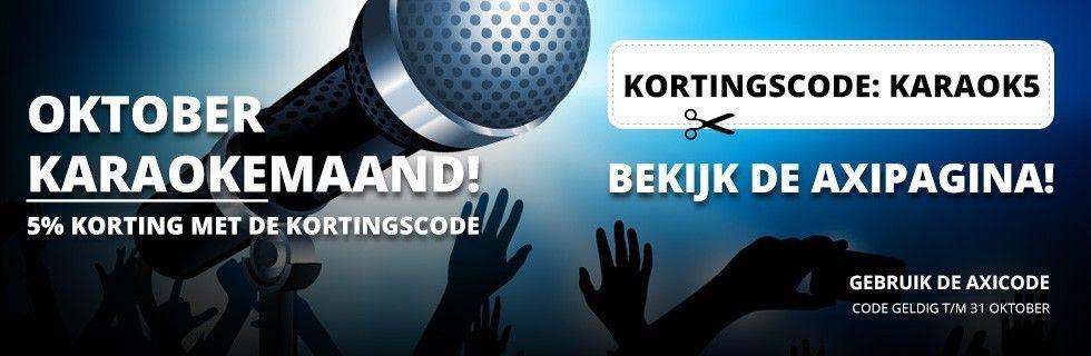 Oktober Karaokemaand. 5% korting met de kortingscode