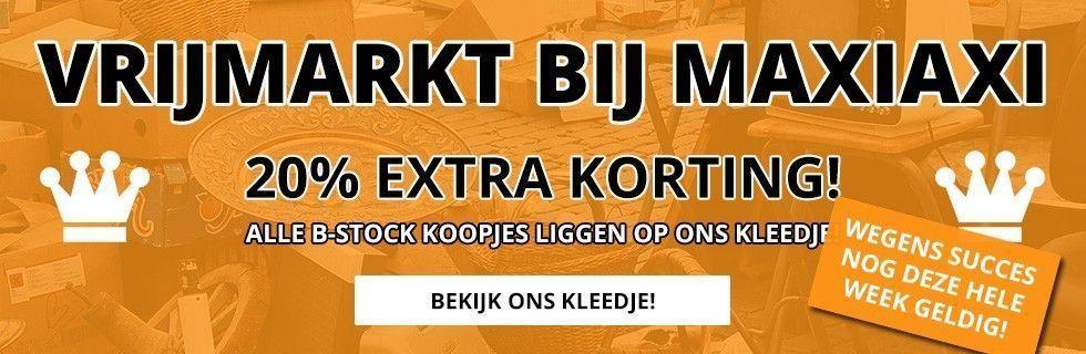 Vrijmarkt bij MaxiAxi! 20% korting!