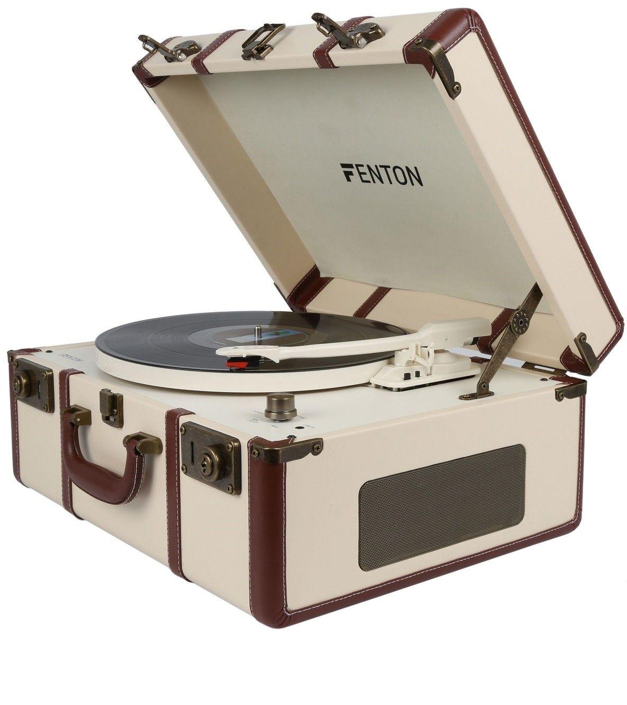 Fenton RP145 platenspeler in robuuste retro koffer