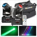 BeamZ Panther 15 Duo Set in Flightbag met afstandsbediening