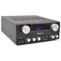 2e keus - SkyTronic zwart 400W Stereo Karaoke Versterker met Display