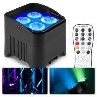 BeamZ BBP94W accu Uplight met 4x 12W LED's en draadloze DMX