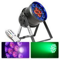 BeamZ BPP225 LED PAR 64 met 14x 18W LED's en blacklight