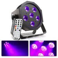 2e keus - BeamZ BFP130 blacklight flatpar met 6x 6 Watt UV LED's