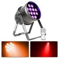 BeamZ BPP200 LED PAR 64 spot met 12x 18W HEXA LED's (RGBAW-UV)