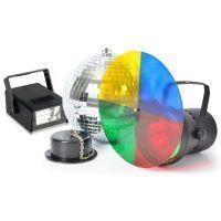 2e keus - BeamZ Disco licht set met Spiegelbol, Puntspot en Stroboscoop