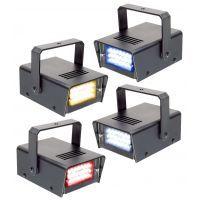 BeamZ LED Stroboscoopset Rood, Geel, Blauw en Wit