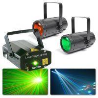 2e keus - BeamZ Disco Lampen met laser - Twee Moonflowers & Apollo Laser Set 2