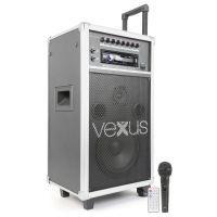 """2e keus - Vexus ST110 mobiele 8"""" geluidsinstallatie op accu met CD, USB en MP3"""