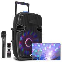 """Fenton FT15JB karaoke speaker 800W 15"""" met LED lichteffecten"""