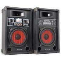 """2e keus - Fenton SPA-800 Karaoke Luidspreker Actieve PA Set 8"""" 600W met USB MP3"""