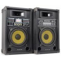 """2e keus - Fenton SPA800Y PA actieve 600W speakerset 8"""" met USB en SD"""