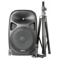 Vonyx SPS152 Actieve speaker 600W met microfoon en standaard