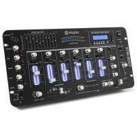 2e keus - SkyTec STM-3007 19 inch DJ Mixer 6 Kanaals SD/USB/MP3/LED/Bluetooth