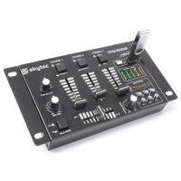 2e keus - SkyTec STM-3020 4-Kanaals mengpaneel met USB MP3 - Zwart