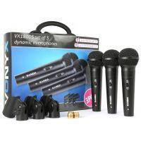 2e keus - Vonyx VX1800S Dynamische microfoonset van 3 microfoons