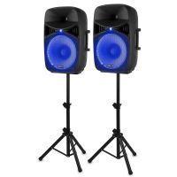 Vonyx VPS152A geluidsinstallatie 1000W met stands en LED's