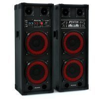"Fenton SPB-28 Actieve speakerset 2x 8"" 800W met Bluetooth"