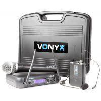 2e keus - Vonyx WM73C Draadloze microfoon UHF - Dubbel