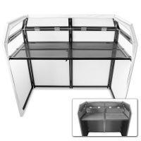 2e keus - Vonyx DB3 DJ Booth met zwarte en witte Lycra doeken
