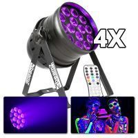 BeamZ BPP230 'Blacklight Mania' - set van 4 inclusief kabels