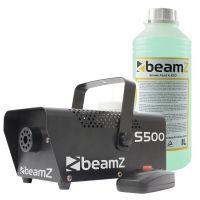 BeamZ S500 rookmachine metaal met ruim een liter rookvloeistof