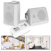 """Bluetooth speakerset 4"""" opbouw voor o.a. badkamer - Wit"""